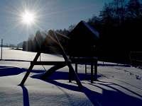 Chalupa Stachy zima 4 - k pronájmu