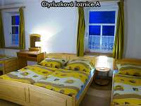 Čtyřlůžková ložnice A - apartmán ubytování České Žleby