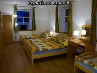 Čtyřlůžková ložnice B - pronájem apartmánu České Žleby