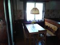 jídelní kout - chata ubytování Mladice