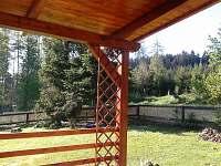výhled z terasy - chata k pronajmutí Mladice