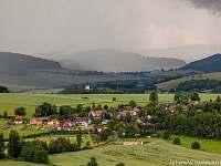 Obec Libkov, srub vlevo na okraji obce