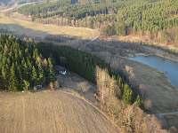 letecký pohled od  Chvalšin