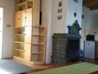 kuchyně+obývací pokoj - chalupa k pronajmutí Nezdice na Šumavě - Pohorsko