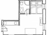 Malý apartmán - půdorys