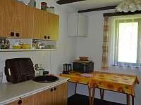 kuchyň - chalupa ubytování Nespice