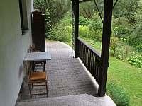 terasa - chalupa ubytování Nespice