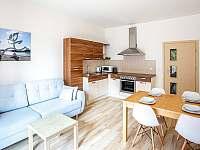Kuchyň s obývákem - pronájem apartmánu Lipno nad Vltavou