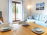 Kuchyň s obývákem - apartmán ubytování Lipno nad Vltavou