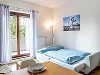 Rozkládací gauč v obýváku - apartmán k pronájmu Lipno nad Vltavou
