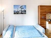 Rozkládací gauč v obýváku - apartmán k pronajmutí Lipno nad Vltavou