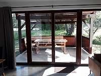 Pohled z obýváku - apartmán ubytování Nová Pec