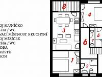 Plán Apartmentu U Anděla - pronájem Dlouhá Ves