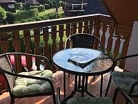 Balkon - chata k pronajmutí Horní Planá - Hůrka