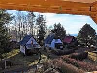 Výhled z balkonu - chata k pronájmu Horní Planá - Hůrka