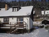 Pohled od jezera-zima - pronájem chaty Slupečná