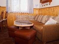 Obývací pokoj - chata ubytování Lipno nad Vltavou - Kobylnice