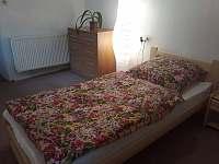 Chalupa Bukovník, druhá ložnice s jednolůžky -