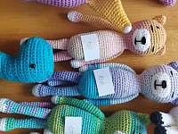Můžete si u nás zakoupit ručně háčkované hračky z dílny mojí sestry Markéty - Bukovník