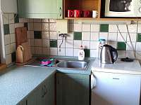 vybavená kuchyňka - apartmán k pronajmutí Horní Němčice u Strážova