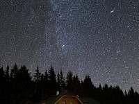 Noční snímek s Mléčnou drahou - Nové Hutě