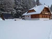 Pohled z běžkařské stopy - ubytování Nové Hutě