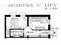PŮDORYS Apartmá U Lípy Sušice - pronájem