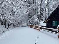 Zimní atmosféra - chalupa ubytování České Žleby