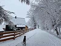 Zimní atmosféra - chalupa k pronájmu České Žleby