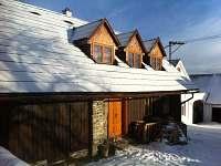 chalupa v zimě - ubytování Lhota nad Rohanovem