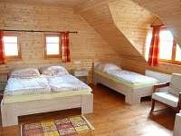 ložnice - pronájem chalupy Lhota nad Rohanovem