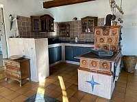 Kuchyně modrý apartmán - k pronájmu Dolní Dvorce