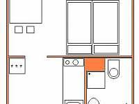 apartmán č. 2 půdorys - Černá v Pošumaví