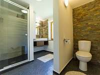 Koupelna + WC - chata k pronajmutí Horní Planá - Karlovy Dvory