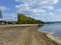 Pláž (suché léto 2015)