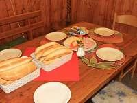 Snídaně - chata k pronajmutí Javorník