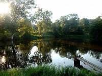 Jeden z rybníků sousedního pstruhařství na kterém si můžete po dohodě zarybařit. - pronájem apartmánu Horní Planá - Hůrka