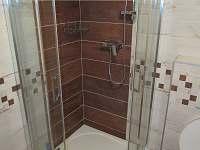 Sprchový kout - apartmán ubytování Stožec