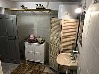 koupelna - pronájem roubenky Dešenice