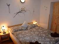 apartmán č. 1, ložnice pro dva - chata k pronájmu Horní Planá