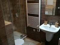 Wc s koupelnou, kde je pračka.