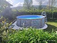 Bazén - pronájem chalupy Záluží