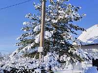 zima 2020 - chalupa ubytování Záluží