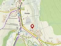 Mapa místa pobytu u Cupků 83 Kvilda
