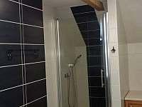 horni koupelna - sprchový kout - chalupa k pronajmutí Černá v Pošumaví - Plánička