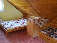 hlavní ložnice - chata k pronajmutí Horní Vltavice