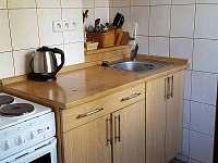 kuchyňský kout - pronájem chaty Horní Vltavice