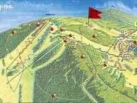 Mapa Lipno léto