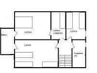 Ubytování Vakantiehuis Villa Park Lipno 200 - patro půdorys