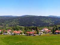 Mitterfirmiansreut - pohled na českou Šumavu